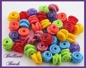 Pick 6 Swirly Beads...Handmade Lampwork Beads SRA, Made To Order
