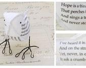 2nd Second Wedding Anniversary Hope is Cotton Gift Love Bird Poem Bird