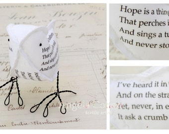 2nd Second Wedding Anniversary Hope is Cotton Gift Love Bird Poem Bird