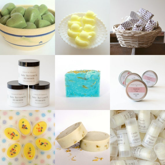 Mystery Beauty Bath Grab Box - Soap, Lotion, Lip Balms, Body Butter - Discounted Products, Bath and Body Handmade Gifts, Surprise Gift