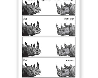 Never Argue With a Rhino - Blank Card