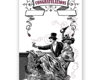 We are so Happy - Wedding or Anniversary Card