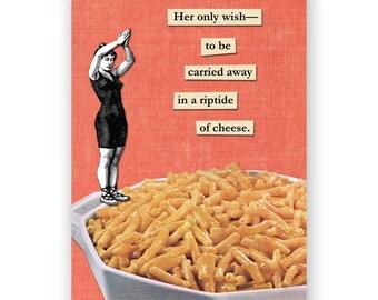 Mac 'n Cheese Rip Tide - Blank Card - Macaroni - Funny - Humor - Food