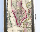 Plan of New York NY Cigarette Case Wallet Business Card Holder id case atlas map
