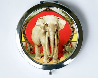 Elephant Compact MIRROR Pocket Mirror jungle zoo