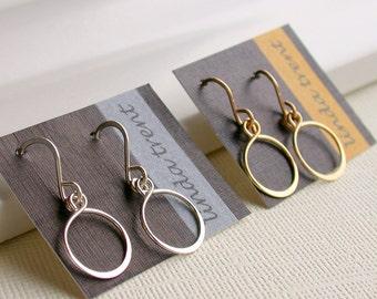 Petite Hoop Earrings in Sterling, Gold fill, or Rose gold fill.