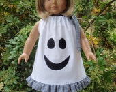 American Girl Doll Clothes Ghost Pillowcase Dress SewSoNancy Boutique