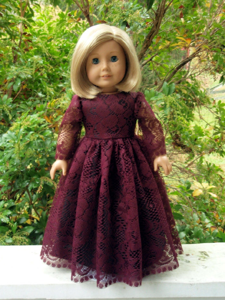 American girl doll clothes bridesmaid formal gown party dress for American girl wedding dress