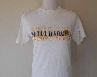 Vintage Santa Barbara University of California       tee t shirt t shirts     clothing clothes