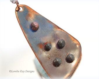 Modern  Enamel Necklace Kiln & Torch Fired Enameled One-of-a-Kind Handmade  Pendant