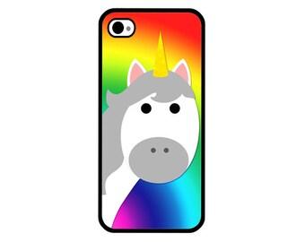 Phone Case - Rainbow Unicorn - Hard Case for iPhone 4, 4s, 5, 5s, 5c, SE, 6, 6 Plus, 7, 7 Plus - iPod Touch 4, 5/6 - Galaxy