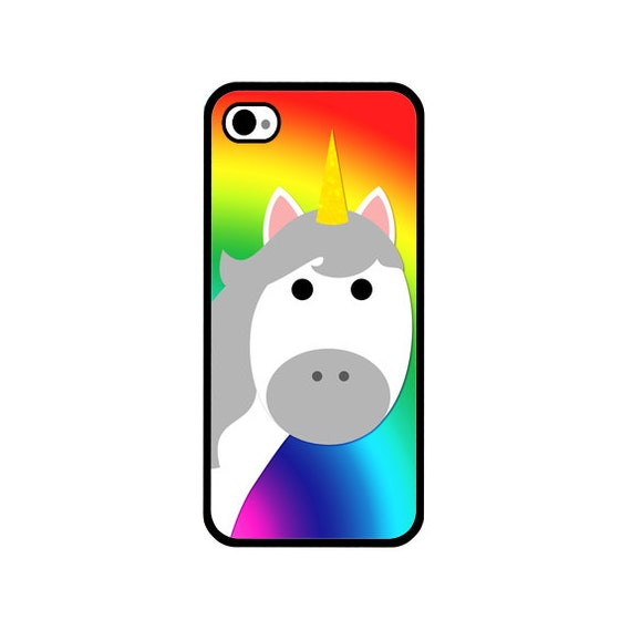 Phone Case - Rainbow Unicorn - Hard Case for iPhone 4, 4s, 5, 5s, 5c, 6, 6 Plus - iPod Touch 4, 5 - Galaxy S3, S4, S5
