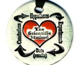 The Scientific Method Ceramic Necklace in Crackle