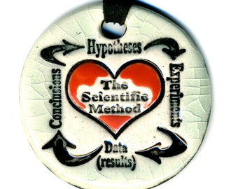 The Scientific Method Ceramic Necklace in Crackle