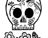 Sugar Skull Clear Stamp Texture