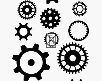 Steampunk Gears Clear Stamp Texture