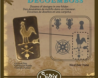 SALE: Vintaj DecoEmboss Die WEATHERVANE (use with Sizzix Bigkick Machine)