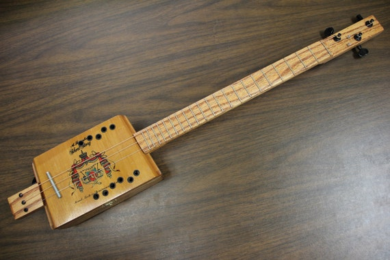 cigar box guitar 3 string short scale. Black Bedroom Furniture Sets. Home Design Ideas