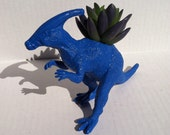 Dinosaur Planter Blue for Succulent Plants and Small Cacti