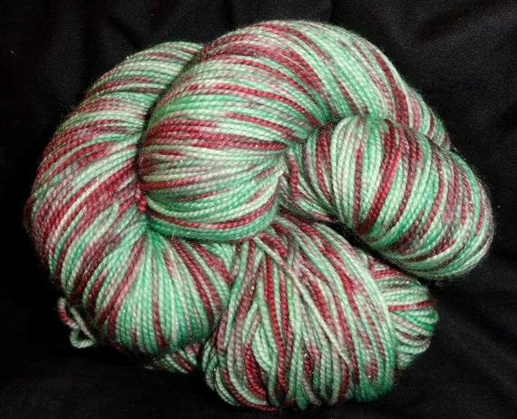 Fairy Sock Gold Christmas Cookies hand dyed sock weight yarn 438 yds