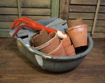 Vintage metal  automatic Livestock Feeder Waterer Galvanized
