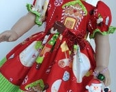 SALE --- Merry Christmas Cookie Dress For the American Girl Doll