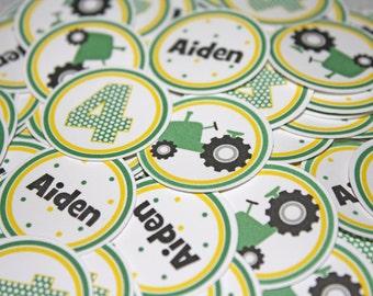 TRACTOR Table Confetti / Green Tractor Confetti / Tractor Table Minis / Tractor Confetti / Tractor Minis / Farm Confetti / Farm Minis