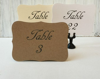 12 Wedding Table Numbers - Wedding Table Cards - Table Numbers - Country Wedding Table Numbers