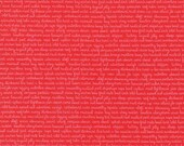 Reserved for rebecs - 1/2 yard + pattern - 15.80 - Daysail - By Bonnie And Camille - For Moda - Tiny Script - Red - 1 Yard - 9.95 Dollars
