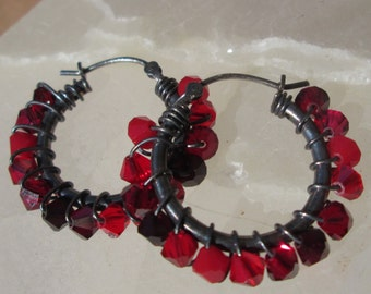 Red Gem Hoops