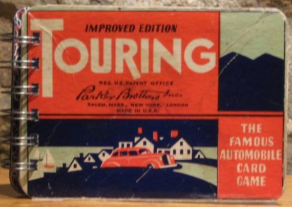 1937 Touring Card Game Box Spiral Bound Notebook