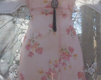 Pink floral dress sheer simple vintage summer frock cotton  xs small  from vintage opulence on Etsy