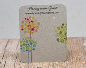 Earring Display Cards Personalized with Your Information - Wild and Crazy Dandelion Flowers - Jewelry Tags