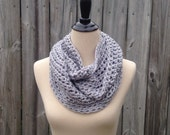 RTS Infinity Cowl Scarf Grey Sparkle