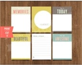 "3""x 4"" Printable This Is Today Notes by Studio Pebbles"