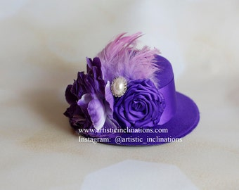Royal Grace - Purple Mini Top Hat