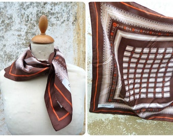 Vintage 1970/70s  Odile saint Germain Floral square silk scarf