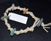 RESERVED FOR BREE - Hippie Chick - Hemp and Sea Glass Bracelet