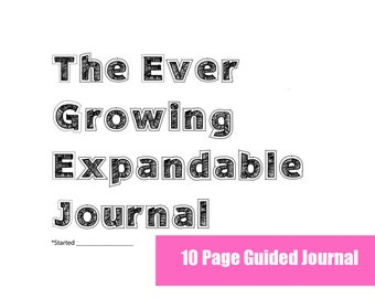 INSTANT DOWNLOAD- Expandable Guided Journal or Diary- Original Set