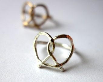 Handmade Sterling Silver Pretzel Ring