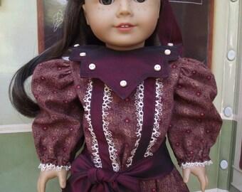 American Girl Samantha 1904 Edwardian Pleated Dress OAK