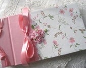 Personalized Guest Book or Photo Album  Handmade Summer Floral Garden Wedding or Bridal Shower