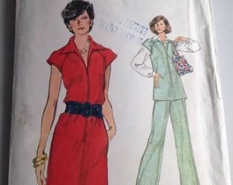 "Vintage Pattern, Women's Dress and Pants Pattern, Very Easy Vogue Pattern, Size 22 1/2"", Etsy, Etsy Vintage,"