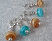 Stitch Markers - For Crochet - Handmade lampwork beads
