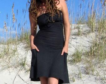 Organic Love Me 2 Times Perfect Pockets Short Dress (light hemp/organic cotton knit) - organic dress