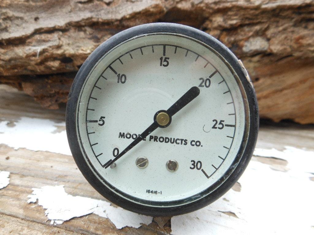 Vintage pressure gauge steampunk industrial by rusticremakes - Steampunk pressure gauge ...