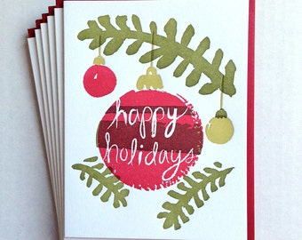 Holiday Ornament Card - set of six