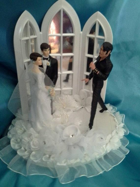 Elvis Wedding Cake Topper Leather 1968 Comeback Tour