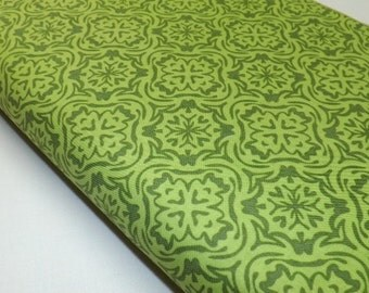 Riley Blake Fabric, Cotton Fabric, Summer Song, Quilting Fabric, Damask Fabric, Green Fabric, Home Decor, Tote,  Preppy Fabric, Place Mats
