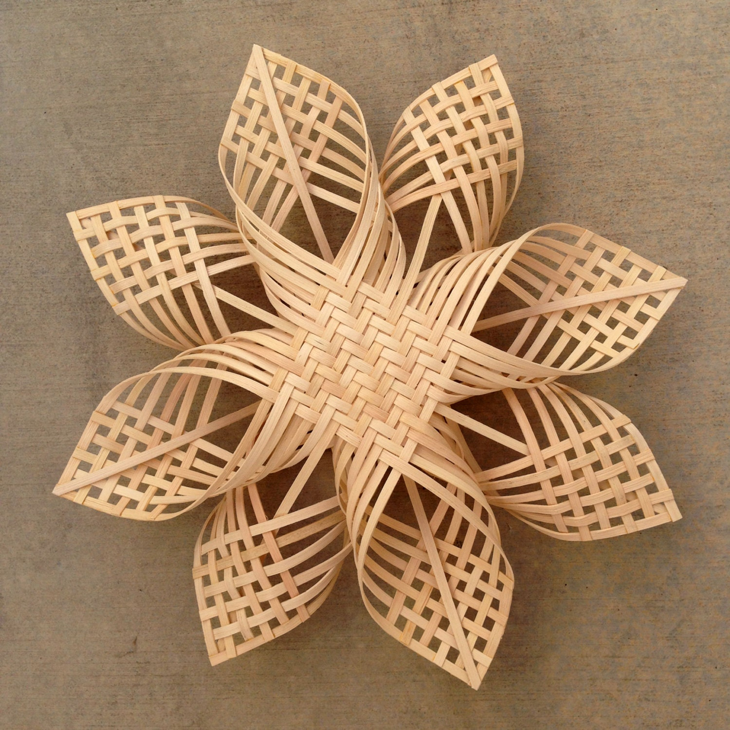 Basket Weaving Star Pattern : Xxl woven star christmas ornament extra large snowflake chubby